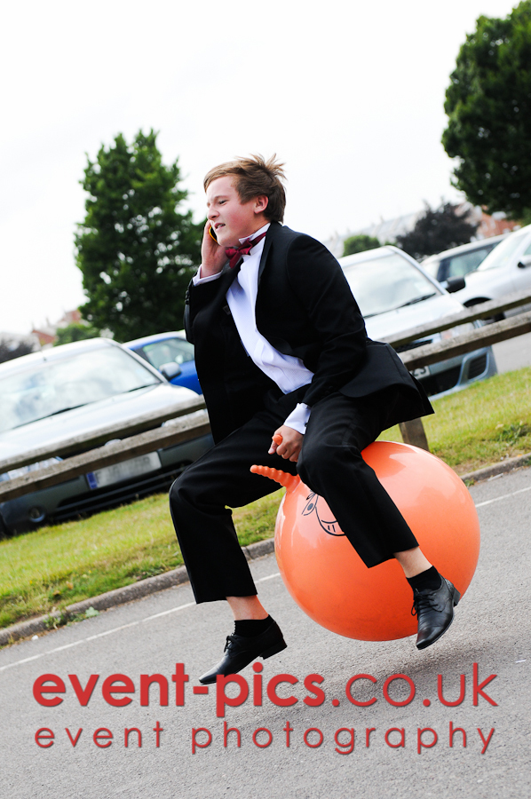 Space Hopper Ride to Prom, Stonehill High School, Birstall, 2010
